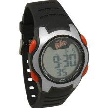Baltimore Oriole wrist watch : Baltimore Orioles Training Camp Watch - Silver/Black