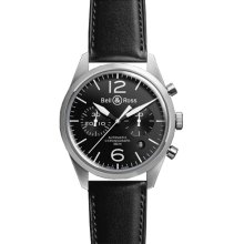 Bell & Ross Vintage Original Chronograph BR-126 Black Dial Watch