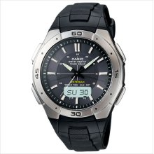 Casio wva470j-1a men's multi band atomic tough solar analog digital watch