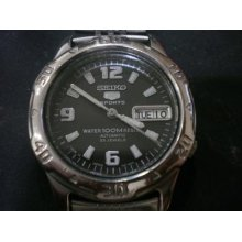 Collectible 7s36 Seiko Vintage Automatic Winding Mechanical 23j Sports Watch