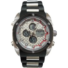 Fashion Watches Mens Black Multifunction Dual-Time Watch