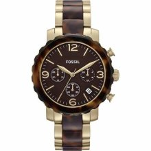 Fossil Natalie Twotone Chronograph Ladies Watch