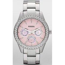 Fossil Stella Es2946 Ladies Steel Bracelet Diamonds Stainless Steel Case Watch