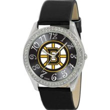 Game Time Official Team Colors. Nhl-Gli-Bos Women'S Nhl-Gli-Bos Glitz Classic Analog Boston Bruins Watch
