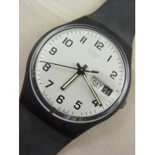 Gb743 Swatch 2000 Once Again Date & Day Classic Authentic