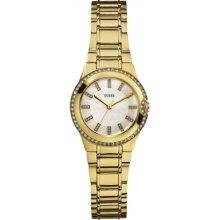 Guess W12654l1 Ladies Mini Moonbeam Gold Tone Watch