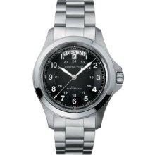 Hamilton H64455133 Watch Khaki King Mens - Black Dial Stainless Steel Automatic Movement