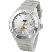 Ice-Watch Men's Sili Collection Silver Plastic and Silicone Watch SISR