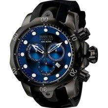 Invicta Men's Black Stainless Steel Reserve Venom Quartz Chronograph Diver Blue Dial Bezel F0003