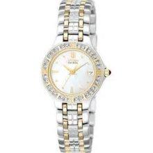 Ladies Citizen Eco-drive Watch, Lucca 2-tone, Diamond Bezel, Ew0694-56d