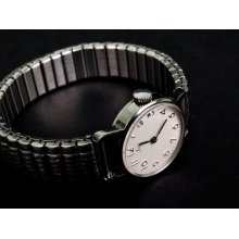 Ladies Vintage mechanical wrist watch LUCH. Great working condition. Retro Style.