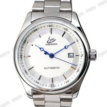 Men Automatic Stainless Steel Mechanical Calendar Wristwatch Wrist Watch Unisex