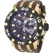 Men's Reserve Diver Chronograph Swiss Quartz Rubber Strap Brown Tone Dial