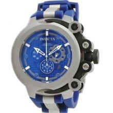 Men's Stainless Steel Force Chronograph Swiss Quartz Blue Dial Strap