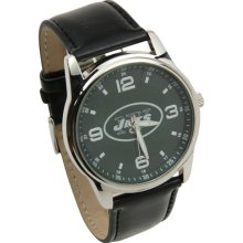 NY Jets wrist watch : New York Jets Interchangeable Leather Watch - Black/Brown
