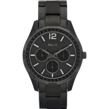 Relic Womens Starla Black Stainless Steel Chronograph Watch Black