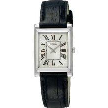 Seiko Ladies Black Leather Strap SUJG23P1 Watch