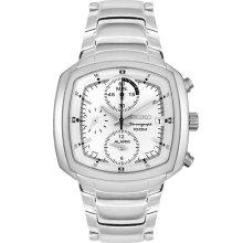 Seiko Mens Chronograph Stainless Steel Alarm Watch SNA635