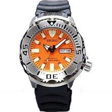 Seiko Skx781 Skx781k3 Mens Orange Monster Rubber Band Automatic Dive Watch