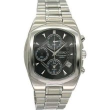 Seiko Sna539 Men's Stainless Steel Case Alarm Chronograph Date Function Watch