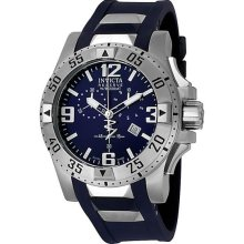 Stainless Steel Reserve Swiss Quartz Chronograph Diver Blue Dial Strap
