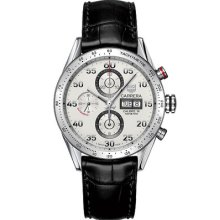 Tag Heuer Carrera Automatic Chronograph Day-date 43m Authentic With Box & Papers