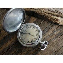 Vintage Pocket Watch Molnia 1970's / Russian Vintage / Mechanical watch / USSR / Soviet Union / Retro Pocket watch