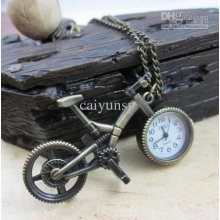 2011 --pocket Watch Bicycle Shape Watch Fashion Gift Watch 50pcs/lot