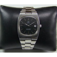 80's Omega Seamaster Black Dial Cal:1012 Date Automatic Man's