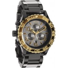 A037-2228 Nixon Ladies 42-20 Chrono Gunmetal Gold Watch