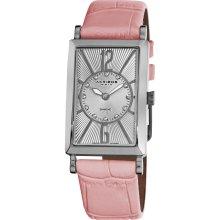 Akribos XXIV Women's Rectangular Stainless Steel Diamond Strap Watch (Ladies Swiss Quartz Strap Watch)