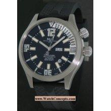 Ball Engineer Master II Diver Chronometer 44mm Watch - Black/Silver Dial, Rubber Strap DM1022A-PC1A-BKSL Chronograph Sale Authentic Tritium
