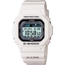 Casio Mens G-Shock G-LIDE Digital Resin Watch - White Resin Strap - Silver Dial - GLX5600-7C