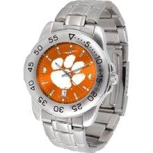 Clemson Stainless Steel Men's Watch [new] Orange Tigers Mens Jewelry Ncaa
