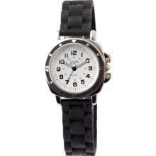 Eton Unisex Quartz Watch With White Dial Analogue Display And Black Silicone Strap 2848L-Bk