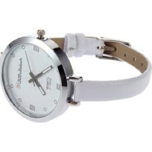 Fashion Ladies Women Thin Leather Band Quartz Wrist Watch Hs