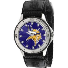 Game Time Official Team Colors. Nfl-Vet-Min Men'S Nfl-Vet-Min Veteran Custom Minnesota Vikings Veteran Series Watch
