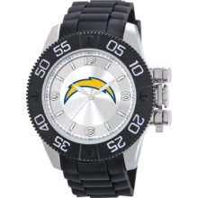 Game Time Watch, Mens San Diego Chargers Black Polyurethane Strap 47mm