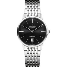 Hamilton H38455131 Watch Intra Matic Mens - Black Dial Stainless Steel Case Automatic Movement