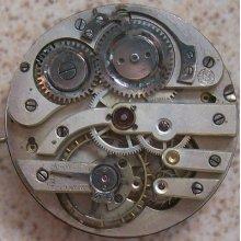 Humbert Ramuz Pocket Watch Movement And Enamel Dial 43 Mm. In Diameter