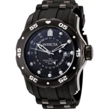 Invicta Mens Pro Diver Collection Gmt Black Dial Polyurethane Band Watch 6996