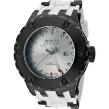 Invicta Watch 12047 Men's Subaqua/reserve Gmt Silver Dial White Polyurethane