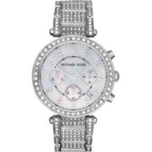 Michael Kors Watch, Womens Chronograph Parker Stainless Steel Bracelet