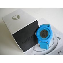 Nixon Wrist Watch The Genie All Sky Blue / White | Light Chrono Date 100m W/ Box