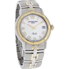 Raymond Weil Parsifal Mens White Mop Dial Two Tone Swiss Watch 9540-stg-00908