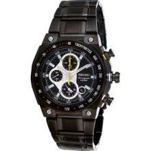 Seiko Black Ion Mechanitech Chronograph Mens Watch SNAD57
