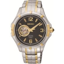 Seiko Coutura Srp318 Men's Two-tone Black Dial Automatic Watch - & Authentic