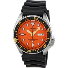 Seiko Diver Orange Dial Automatic Mens Watch SKX011J1