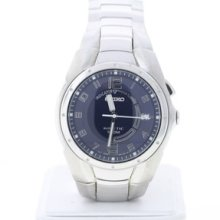 Seiko SKA235 Seiko Mens Sport Watch Stainless Steel Bracelet Blue Dial/Date