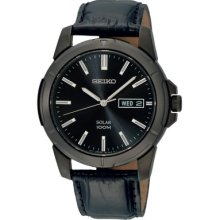 Seiko Solar Men's Stainless Steel Case Date Watch Sne097